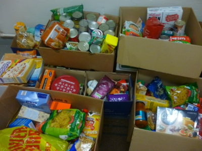 Stratford Schools donate food collection to Focus Ireland