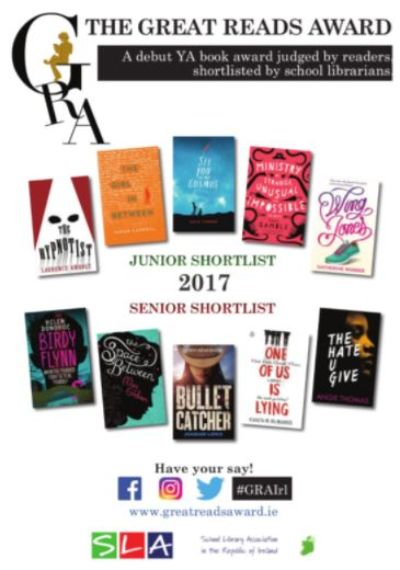 Great Reads Award 2017: students asked to read and rate Junior and Senior books