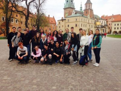 Group of TY students and 5th Years visiting Krakow, Poland on History Trip