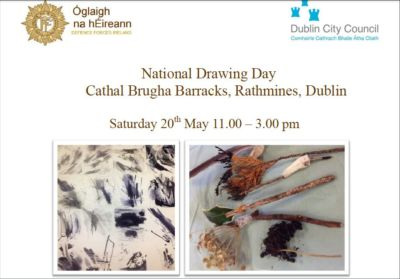National Drawing Day in Cathal Brugha Barracks, Rathmines