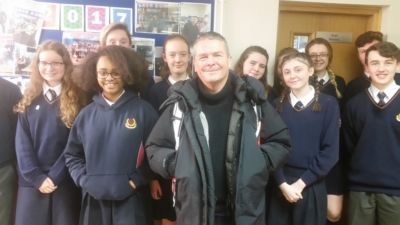 Film Director Nick Kelly holds Q&A with TY English students