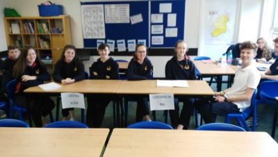 "TY debate in Irish class: ""School Uniforms: Are they necessary?"""