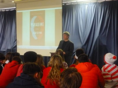 World Book Day Celebrations in Stratford: author Alan Glynn visits the school