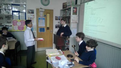 2nd Year English students participate in debating module