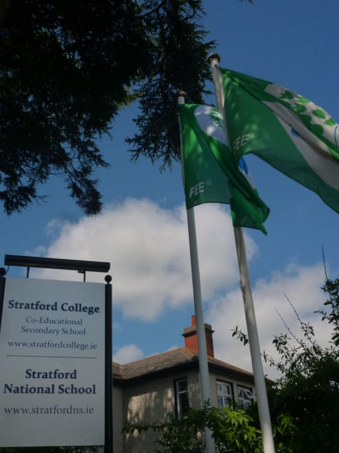 Stratford's two Green Flags<br />Photo: Ms. O'Kelly