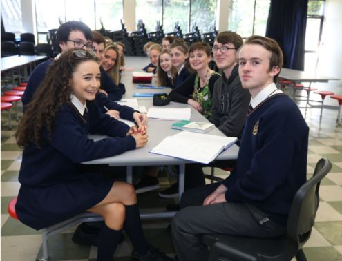 Planning ahead: Students from Stratford College Secondary School.<br />Photo: Damien Eagers