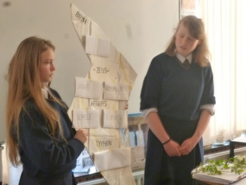 1st Year Classics projects, May 2016 Photo: Ms Donohoe