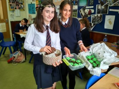 Edible Classical Studies monsters made by 1st Years