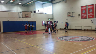 1st and 2nd Year Boys Basketball teams play Presentation Terenure