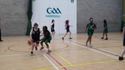 1st and 2nd Year Girls Basketball teams compete against Adamstown