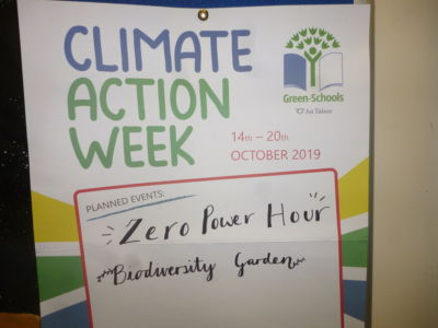 Green Schools organise 'Zero Power Hour' for Climate Action Week