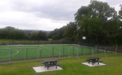 New Multi Use Games Area (MUGA) in next door Herzog Park!