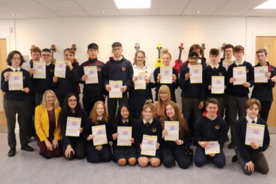 TY students receive their Junior Cycle Profile of Achievement certificates (JCPA)