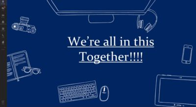 We're all in this together! A short video on some of the ways we've managed so far