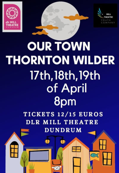 Two 5th Year students in lead roles of 'Our Town' in the Mill Theatre, Dundrum
