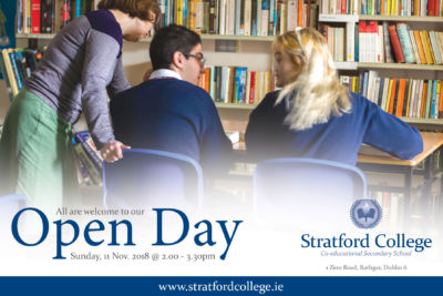 Stratford College Open Day - Sunday 11th November 2018
