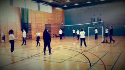 TYs try out volleyball
