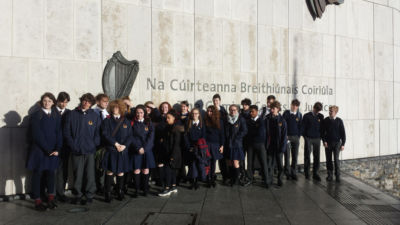 TY Law Week - students visit the Criminal Courts of Justice
