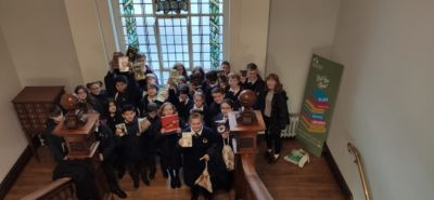 1st Years visit Rathmines Library to borrow books for the MS-Readathon