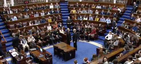 Youth Climate Change Dail 15 Nov2019 1065X484 Image courtesy of Oireachtas TV