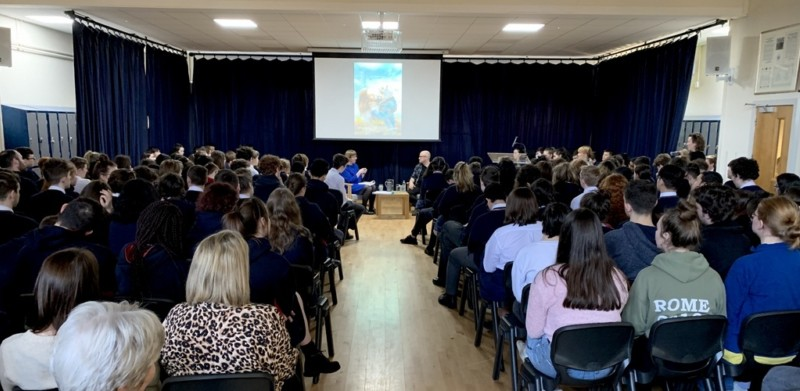Lenny Abrahamson talks to Stratford students, 28 Jan 2019 Photo: Rabbi Lent